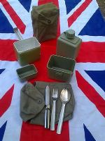 MILITARY MESS TIN SET WITH WATER BOTTLE AND CUTLERY